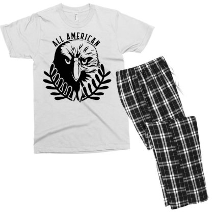 All American Men's T-shirt Pajama Set Designed By Tht