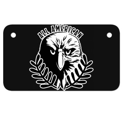 All American Motorcycle License Plate Designed By Tht