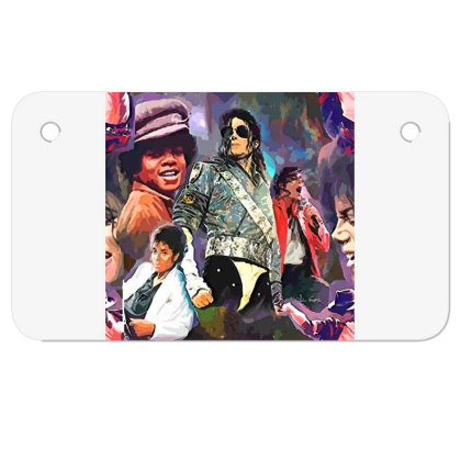Mj  Poster Motorcycle License Plate Designed By Artango