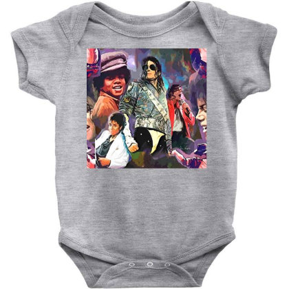 Mj  Poster Baby Bodysuit Designed By Artango