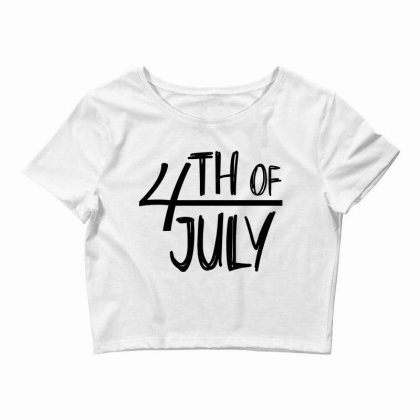 4th Of July Happy Independence Day Crop Top Designed By Tht