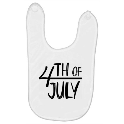4th Of July Happy Independence Day Baby Bibs Designed By Tht