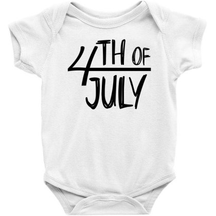 4th Of July Happy Independence Day Baby Bodysuit Designed By Tht