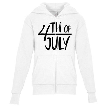 4th Of July Happy Independence Day Youth Zipper Hoodie Designed By Tht