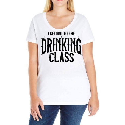 I Belong To The Drinking Class Ladies Curvy T-shirt Designed By G3ry