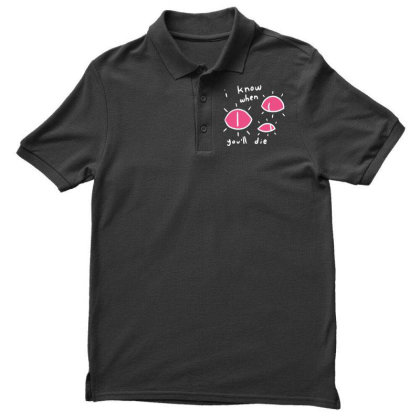 I Know When You'll Die Men's Polo Shirt Designed By G3ry
