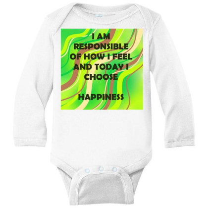 Happiness Long Sleeve Baby Bodysuit Designed By Artango