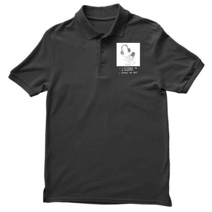 I Listened To A Podcast Dark Men's Polo Shirt Designed By G3ry