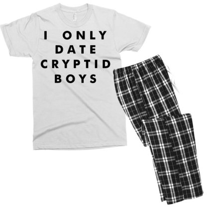 I Only Date Cryptid Boys (black) Men's T-shirt Pajama Set Designed By G3ry