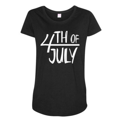 4th Of July Happy Independence Day Maternity Scoop Neck T-shirt Designed By Tht