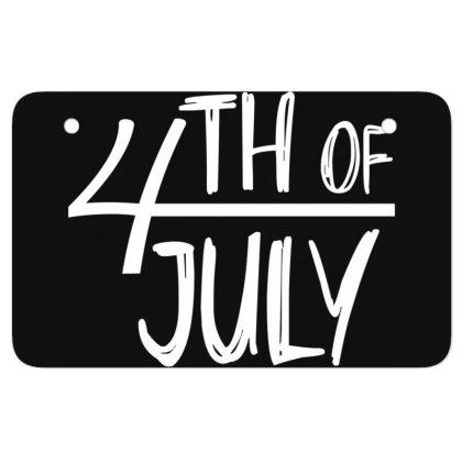 4th Of July Happy Independence Day Atv License Plate Designed By Tht