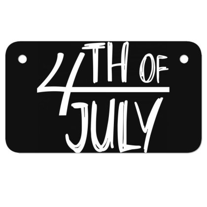 4th Of July Happy Independence Day Motorcycle License Plate Designed By Tht