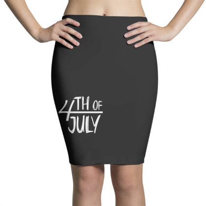 4th Of July Happy Independence Day Pencil Skirts Designed By Tht