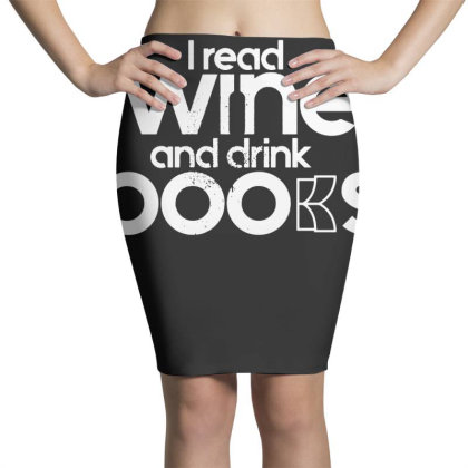 I Read Wine And Drink Books Pencil Skirts Designed By G3ry