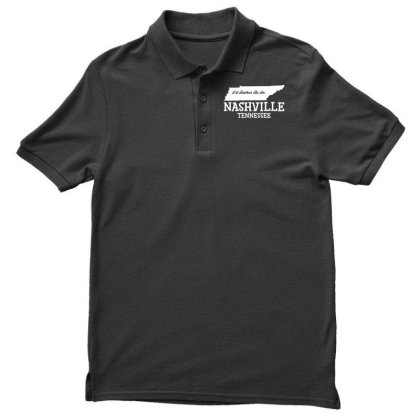 I'd Rather Be In Nashville Tennessee Men's Polo Shirt Designed By G3ry