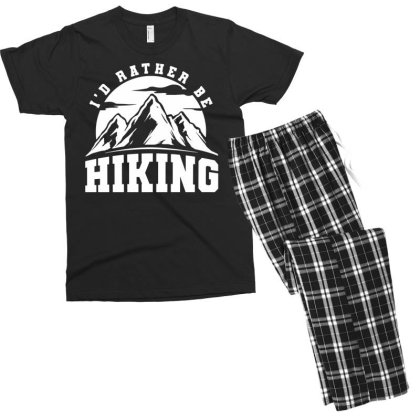 I'd Rather Be Hiking Men's T-shirt Pajama Set Designed By G3ry