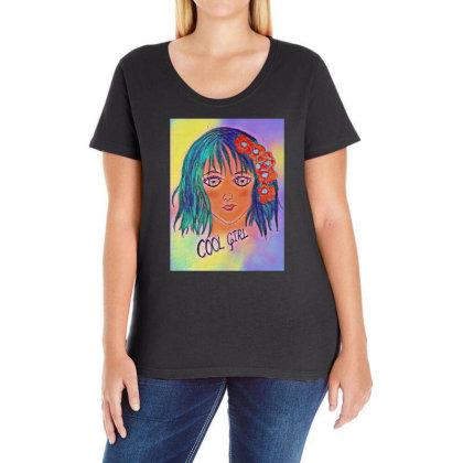 Cool Girl Ladies Curvy T-shirt Designed By Swati455