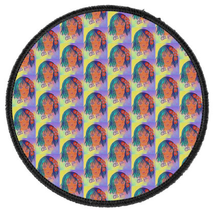 Cool Girl Round Patch Designed By Swati455