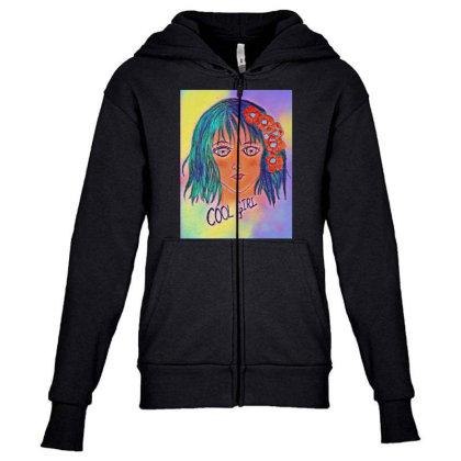 Cool Girl Youth Zipper Hoodie Designed By Swati455
