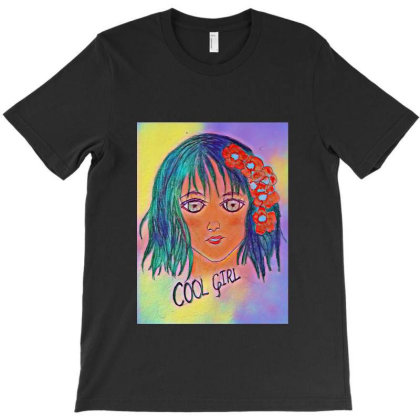 Cool Girl T-shirt Designed By Swati455