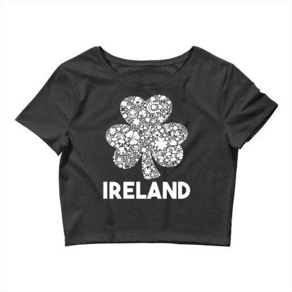 Ireland Shamrock Saint Patrick's Day Crop Top Designed By G3ry