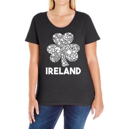 Ireland Shamrock Saint Patrick's Day Ladies Curvy T-shirt Designed By G3ry