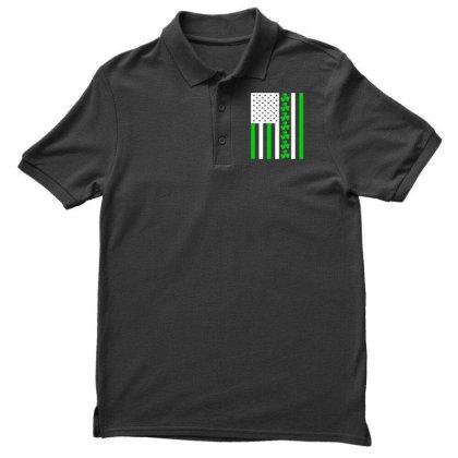 Ireland Us Flag Shamrock Irish Men's Polo Shirt Designed By G3ry