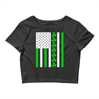 Ireland Us Flag Shamrock Irish Crop Top Designed By G3ry