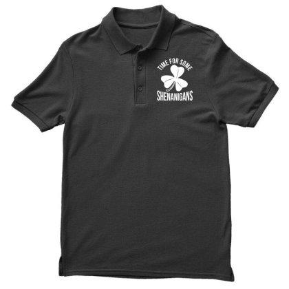Irish Flag Shenanigan Ireland Men's Polo Shirt Designed By G3ry