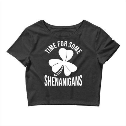 Irish Flag Shenanigan Ireland Crop Top Designed By G3ry