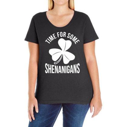 Irish Flag Shenanigan Ireland Ladies Curvy T-shirt Designed By G3ry