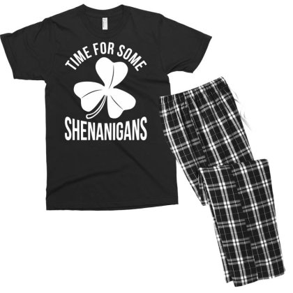 Irish Flag Shenanigan Ireland Men's T-shirt Pajama Set Designed By G3ry