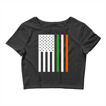 Irish Us Flag Ireland Crop Top Designed By G3ry