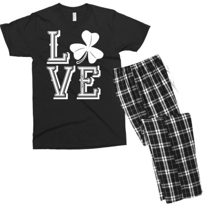 Irish Shamrock Love Ireland Men's T-shirt Pajama Set Designed By G3ry