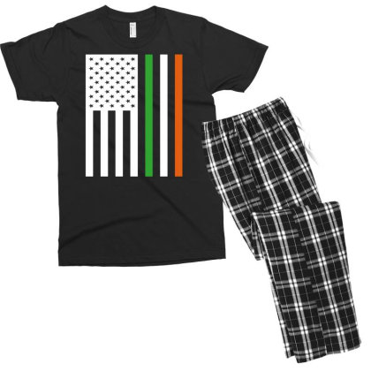 Irish Us Flag Ireland Men's T-shirt Pajama Set Designed By G3ry
