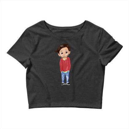 Cute Boy Crop Top Designed By Sufiyan67
