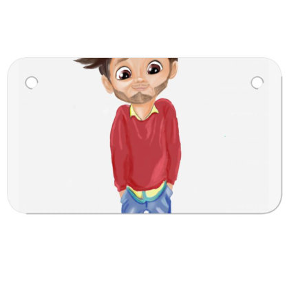 Cute Boy Motorcycle License Plate Designed By Sufiyan67