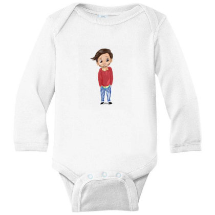 Cute Boy Long Sleeve Baby Bodysuit Designed By Sufiyan67