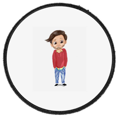 Cute Boy Round Patch Designed By Sufiyan67