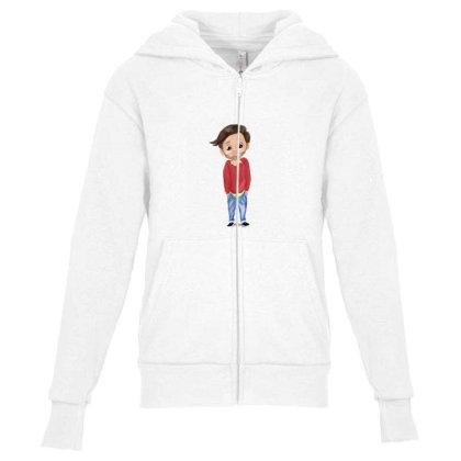 Cute Boy Youth Zipper Hoodie Designed By Sufiyan67