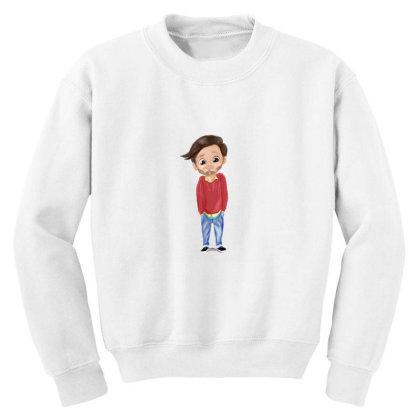 Cute Boy Youth Sweatshirt Designed By Sufiyan67