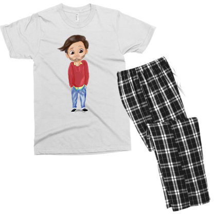 Cute Boy Men's T-shirt Pajama Set Designed By Sufiyan67