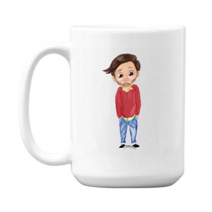 Cute Boy 15 Oz Coffe Mug Designed By Sufiyan67
