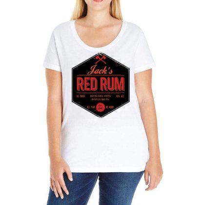 Jack's Red Rum Ladies Curvy T-shirt Designed By G3ry