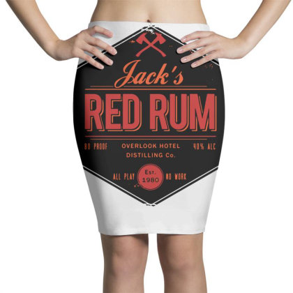 Jack's Red Rum Pencil Skirts Designed By G3ry