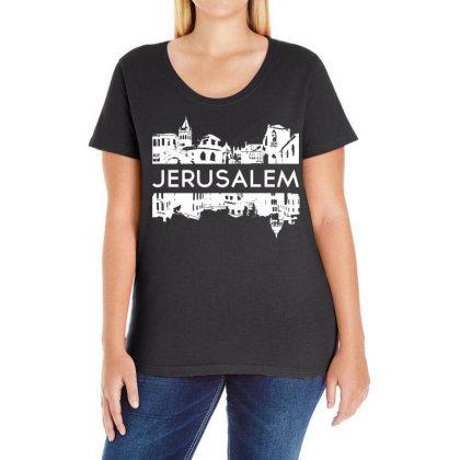 Jerusalem Isreal Ladies Curvy T-shirt Designed By G3ry