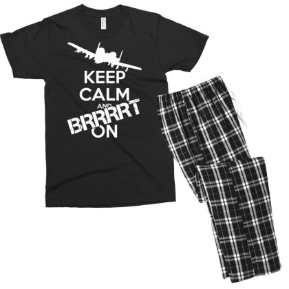 Keep Calm And Brrrt On Men's T-shirt Pajama Set Designed By G3ry