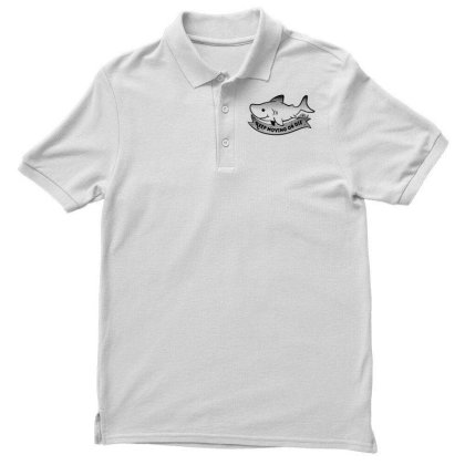 Keep Moving Little Shark Men's Polo Shirt Designed By G3ry