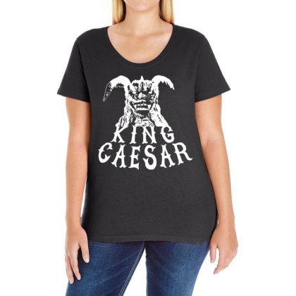 King Caesar Ladies Curvy T-shirt Designed By G3ry