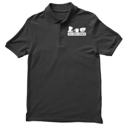 Kitten Pet Simple Woman Kitty Cat Men's Polo Shirt Designed By G3ry